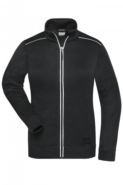 Ladies' Knitted Workwear Fleece Jacket - SOLID -