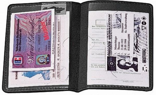 """CreativDesign Ausweistasche """"Paper Label 2"""" schwarz"""