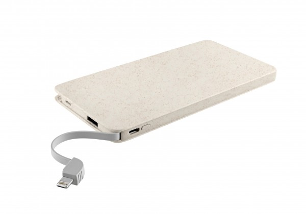 "Metmaxx® Powerbank ""TripleForce10"" beige wheat straw"