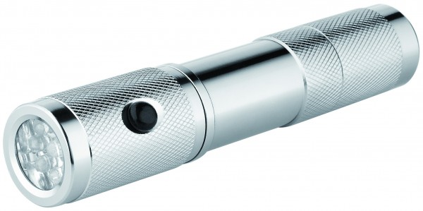 "Metmaxx® LED MegaBeam Sicherheitslampe ""PocketSecurity"" silber"
