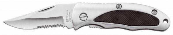 """Metmaxx® Taschenmesser """"HunterPlus"""" silber/schwarz"""