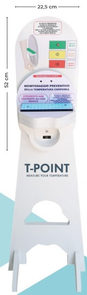 """""""T-POINT"""" Temperature measuring station with base / not for medical use"""