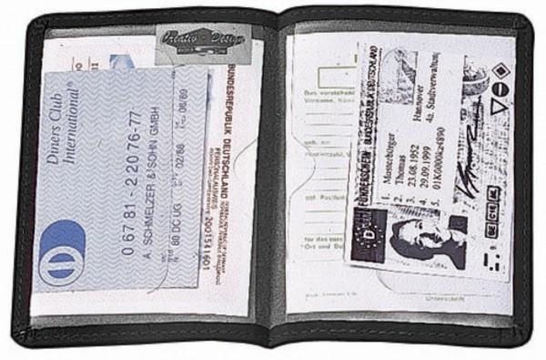 """CreativDesign Ausweistasche """"Paper Label 2G"""" schwarz"""